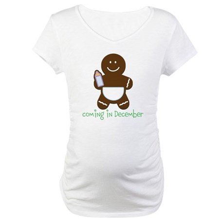 Gingerbread Baby Custom Maternity T-Shirt