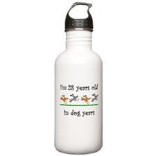 4 dog birthday 1 Water Bottle