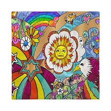 Psychedelic Sunshine Art Queen Duvet
