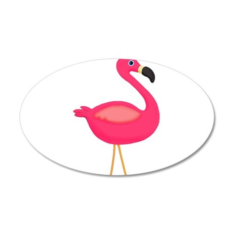 Pink Flamingo Pale Wing Wall Decal