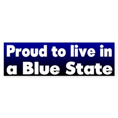 Mass. Blue State Bumper Sticker
