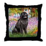 Garden / Newfoundland Throw Pillow