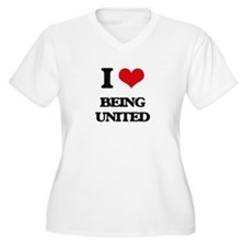 I love Being United Plus Size T-Shirt
