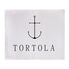 Tortola Sailing Anchor Throw Blanket