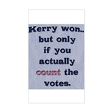 Kerry Won - Rectangle Decal