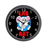 Science Lab Rat Wall Clock