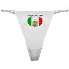 Custom Mexico Flag Heart Classic Thong