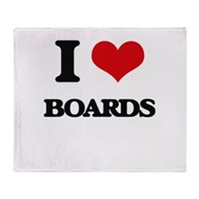 I Love Boards Throw Blanket