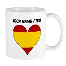 Custom Spain Flag Heart Mugs