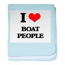 I Love Boat People baby blanket