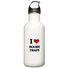 I Love Booby Traps Water Bottle