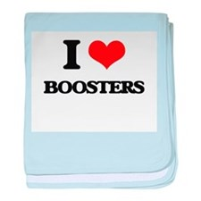 I Love Boosters baby blanket