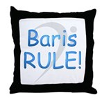 Baris RULE! Throw Pillow