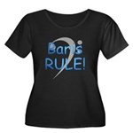 Baris RULE! Women's Plus Size Scoop Neck Dark T-Sh