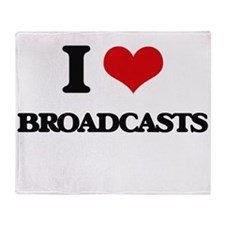 I Love Broadcasts Throw Blanket