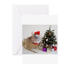 Cute Holiday chinchilla Greeting Cards (Pk of 10)