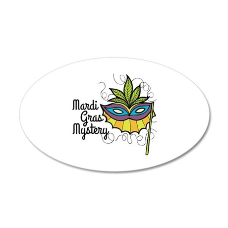 Mardi Gras Mystery Wall Decal