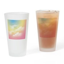 Pastel cloudy sky Drinking Glass