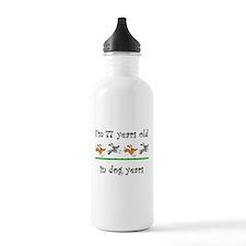 11 dog birthday 1 Water Bottle