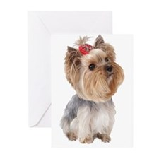 Unique Yorkie Greeting Cards (Pk of 20)