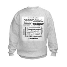 Positive Birth Affirmations Sweatshirt