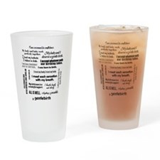 Affirmations Drinking Glass