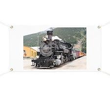 Steam train engine Silverton, Colorado, USA Banner
