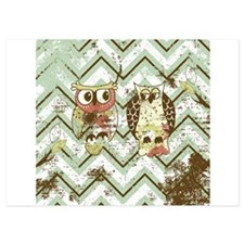Chevron Owls #1 Invitations