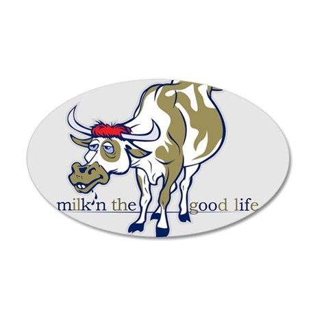 Cow Milking the Good Life Wall Decal