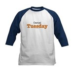 Casual Tuesday Orange Kids Navy Baseball Jersey