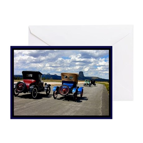Devil's Tower Old Cars Greeting Cards (Pk of 10)