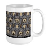 Blue Doberman Pinschers Mug