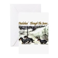 Cute Doxie christmas Greeting Cards (Pk of 10)
