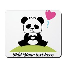 Panda's hands showing love Mousepad