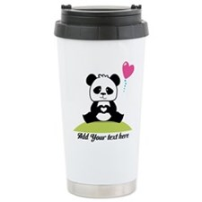 Panda's hands showing l Travel Mug