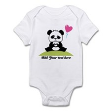 Panda's hands showing love Infant Bodysuit