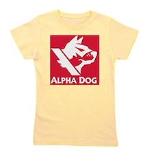 Alpha Dog Games Red Block Logo Girl's Tee
