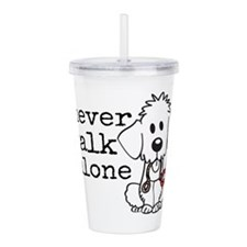 Cute Goldendoodles Acrylic Double-wall Tumbler