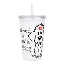 Cool Goldendoodles Acrylic Double-wall Tumbler