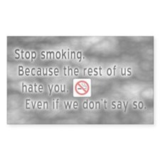 Anti-Smoker Sticker (Rect.)