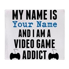 Video Game Addict Throw Blanket