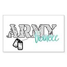 Army Fiancee Rectangle Decal