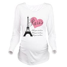 custom add text pari Long Sleeve Maternity T-Shirt