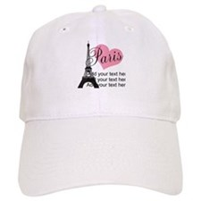 custom add text paris Baseball Cap