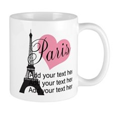 custom add text paris Mug