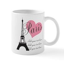 custom add text paris Small Mug