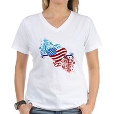 July 4th Heart Scroll Shirt