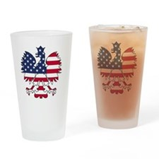 Polish American Eagle Drinking Glass