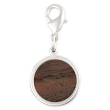 Landscape of Mars Silver Round Charm