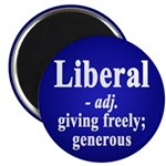 Definition of the word Liberal (Magnet)